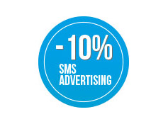 Sconto 10% su una  campagna di sms  Advertising