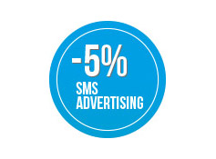 Sconto 5% su una  campagna di sms  Advertising