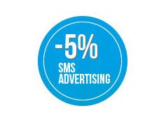 Sconto 5% su una  campagna di sms  Advertising