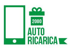 Autoricarica di 110 euro pari a  2000 crediti sms